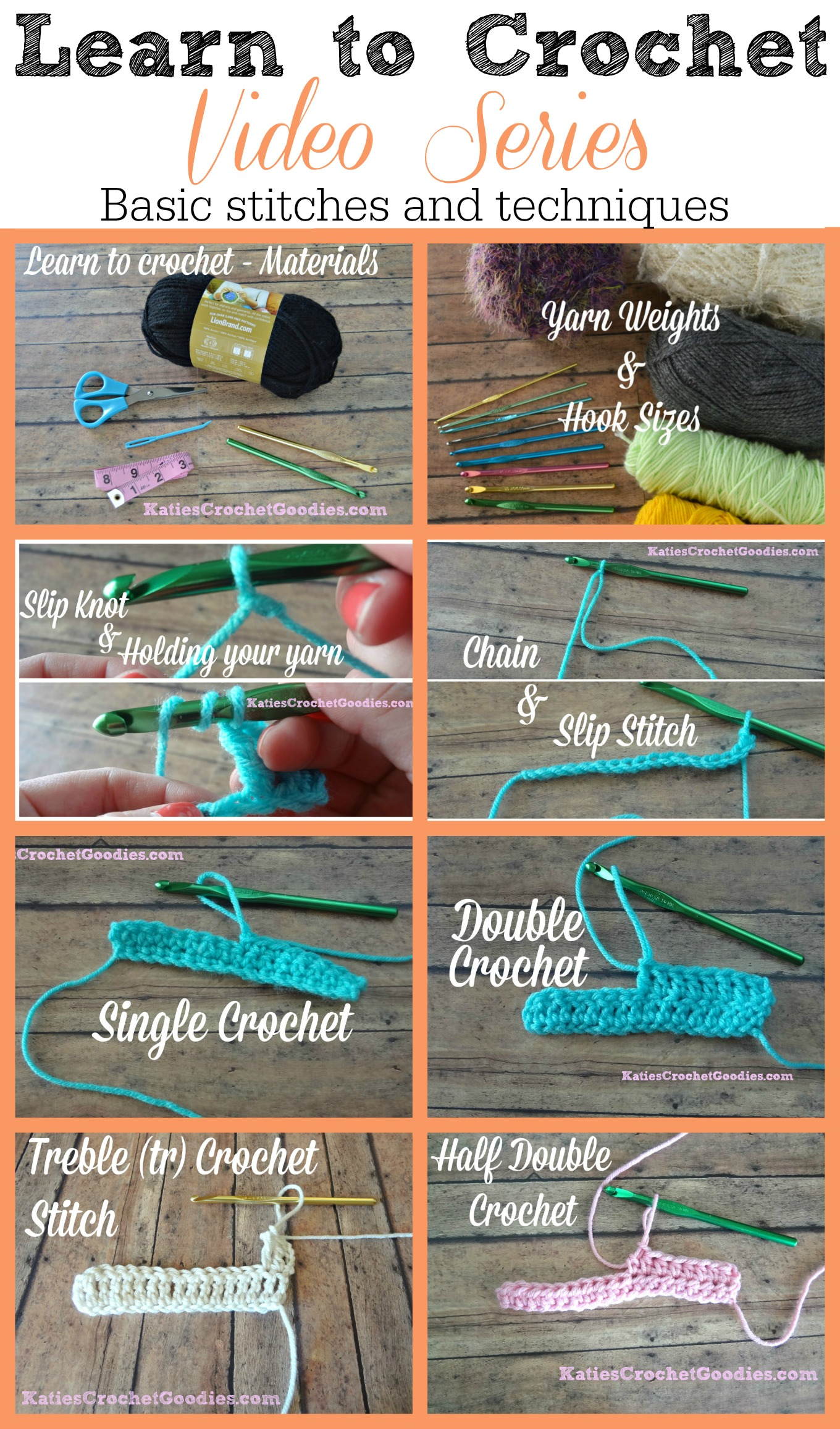 Learn to Crochet Video Series - Katies Crochet Goodies