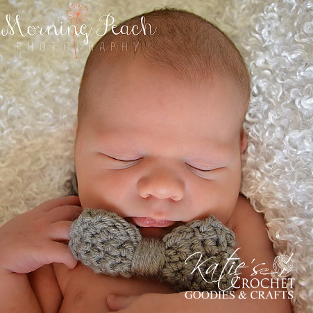 Free Newborn Crocheted Bow Tie Pattern - Katies Crochet ...
