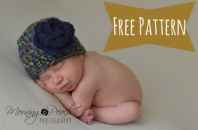 Free Crochet Pattern For Chunky Baby Hat : Free Chunky Crochet Newborn Hat Pattern