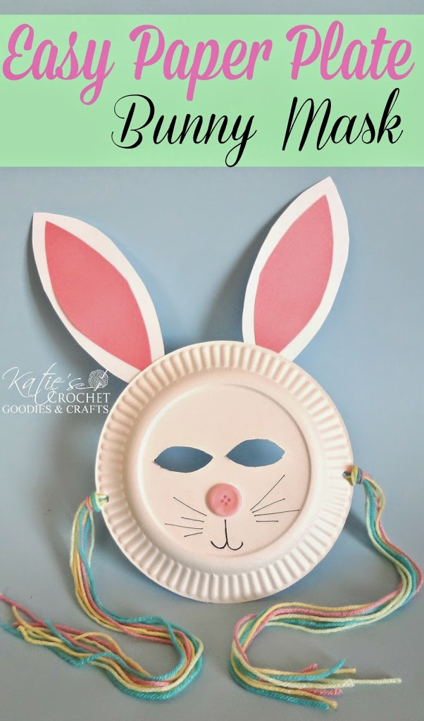 easy paper bunny craft easy paper plate bunny craft s crochet goodies 4371
