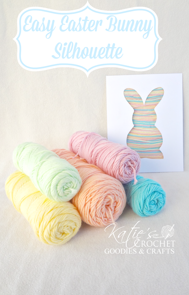 Easy easter craft for toddlers bunny silhouette yarn craft easy easter craft for toddlers bunny silhouette yarn craft katies crochet goodies negle Images